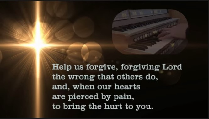 Image showing the words Help us forgive, forgiving Lord